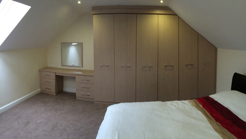 furniture for loft. Light Birch. Loft Space Wardrobes Furniture For